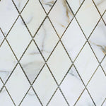 Calacatta Gold Marble Polished 1x2 Diamond Mosaic Tile - TILE AND MOSAIC DEPOT