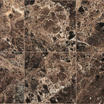 Emperador Dark Spanish Marble 4x4 Polished Tile - TILE AND MOSAIC DEPOT