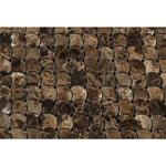 Emperador Dark Spanish Marble Raindrop Polished Mosaic Tile - TILE AND MOSAIC DEPOT
