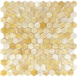 Honey Onyx 2x2 Hexagon Polished Mosaic Tile - TILE AND MOSAIC DEPOT