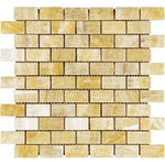 Honey Onyx 1x2 Polished Mosaic Tile - TILE AND MOSAIC DEPOT