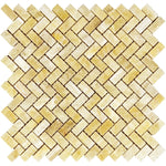 Honey Onyx 5/8 x 1 1/4 Mini Herringbone Polished Mosaic Tile - TILE AND MOSAIC DEPOT