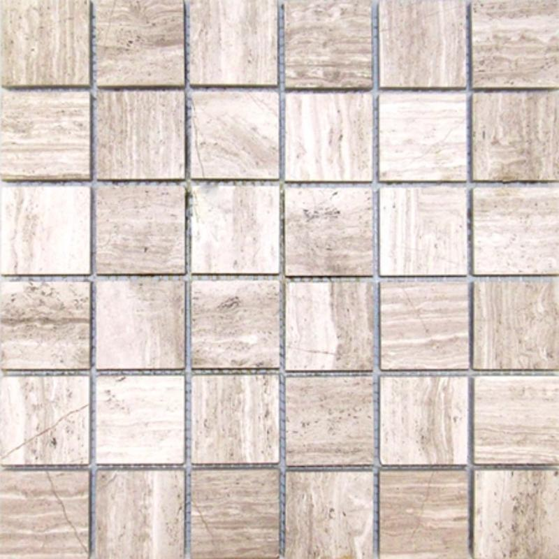 Haisa Light (White Oak) Marble 2x2  Honed Mosaic Tile - TILE AND MOSAIC DEPOT