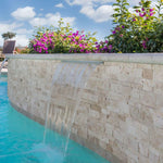 Ivory Travertine 6x18 Stacked Stone Ledger Corner - TILE AND MOSAIC DEPOT