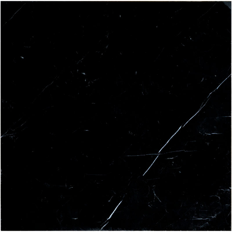Nero Marquina Marble 18x18 Polished Tile - TILE AND MOSAIC DEPOT