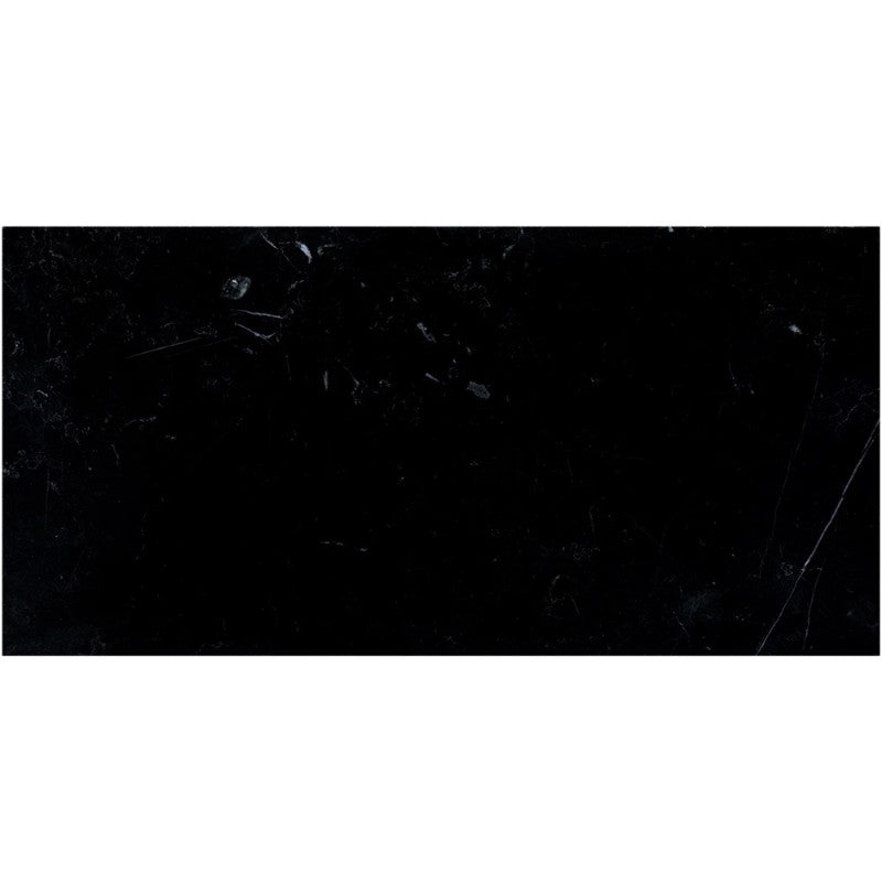 Nero Marquina Marble 12x24 Polished Tile - TILE AND MOSAIC DEPOT