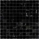 Nero Marquina Marble 2x2 Polished Mosaic Tile - TILE AND MOSAIC DEPOT