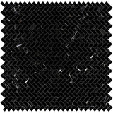 Nero Marquina Marble 5/8x1 1/4 Mini Herringbone Polished Mosaic Tile - TILE AND MOSAIC DEPOT