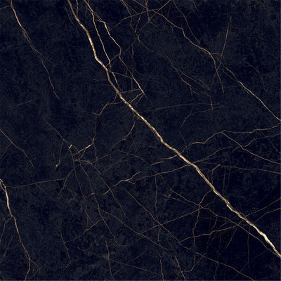 Nero Oro 24x48 Italian Rectified Polished Porcelain Tile - TILE AND MOSAIC DEPOT
