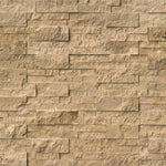 Noce Travertine 6x24 Stacked Stone Ledger Panel - TILE AND MOSAIC DEPOT