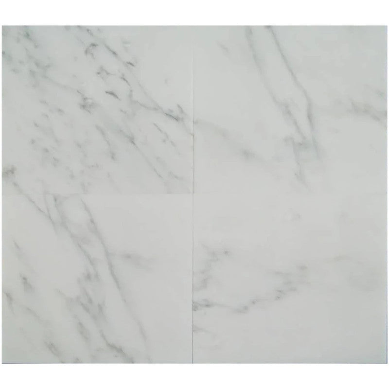 Asian Statuary (Oriental White) Marble 12x12 Polished Tile - TILE AND MOSAIC DEPOT