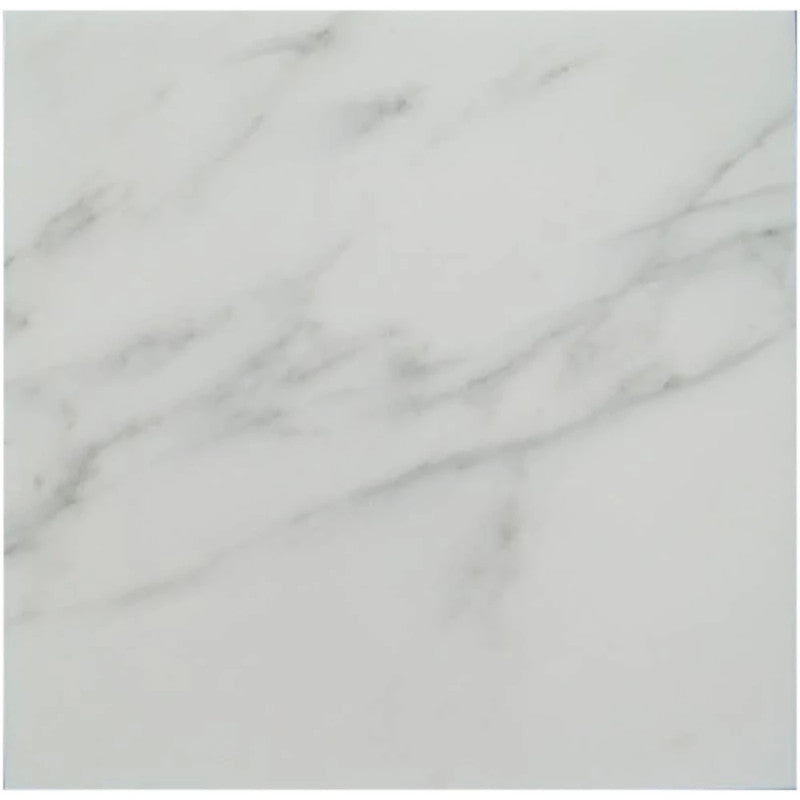 Asian Statuary (Oriental White) Marble 18x18 Honed Tile - TILE AND MOSAIC DEPOT