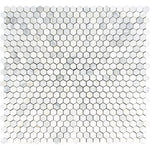 Asian Statuary (Oriental White) Marble 1x1 Hexagon Polished Mosaic Tile - TILE AND MOSAIC DEPOT