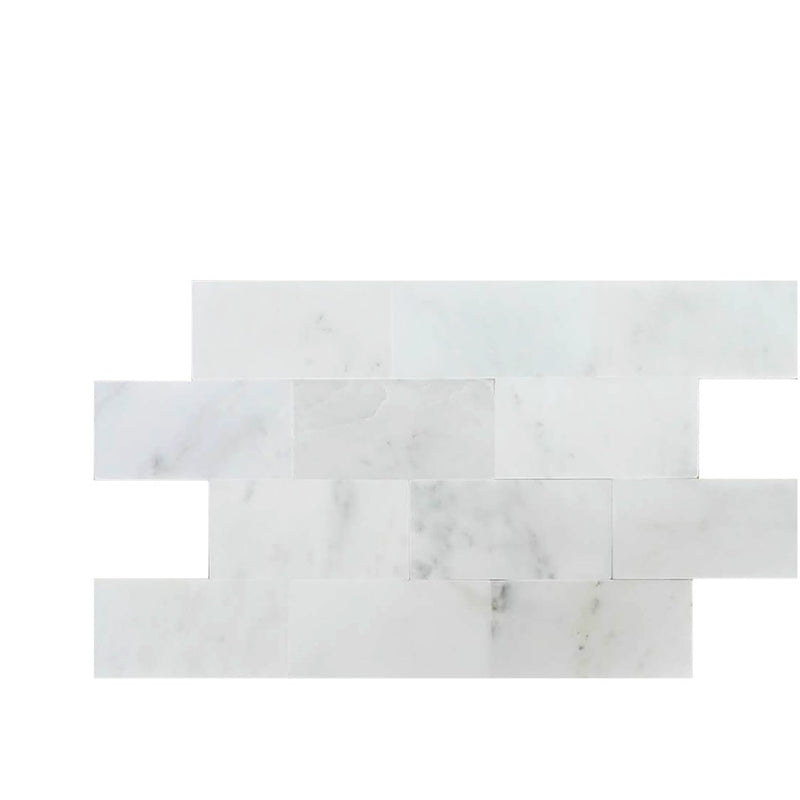 Asian Statuary (Oriental White) Marble 6x12 Polished Tile - TILE AND MOSAIC DEPOT