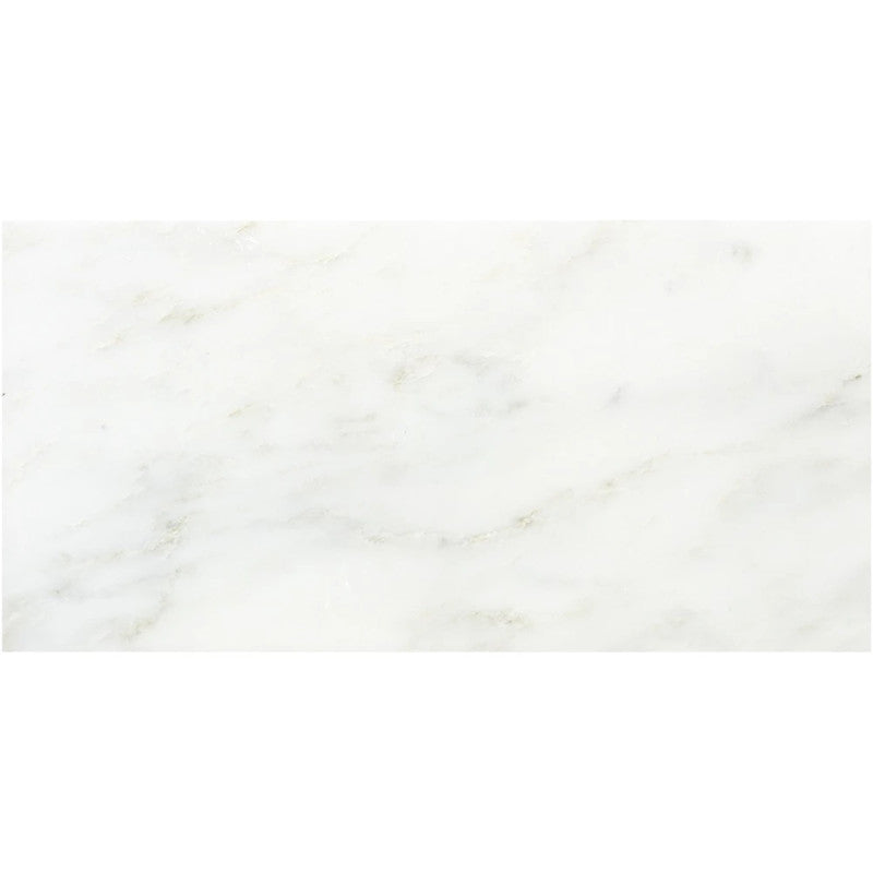 Asian Statuary (Oriental White) Marble 12x24 Polished Tile - TILE AND MOSAIC DEPOT
