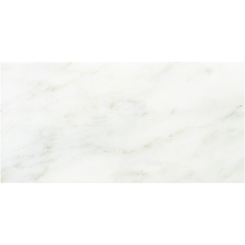 Asian Statuary (Oriental White) Marble 12x24 Honed Tile - TILE AND MOSAIC DEPOT