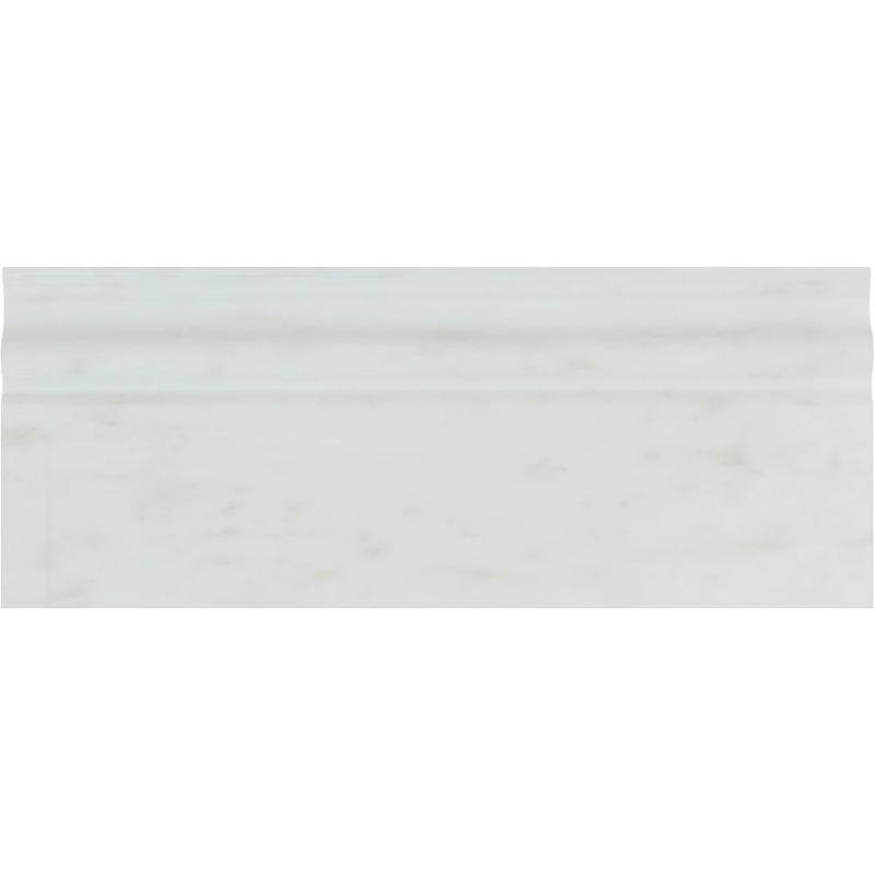Asian Statuary (Oriental White) Marble 4 3/4x12 Honed Baseboard Molding - TILE AND MOSAIC DEPOT