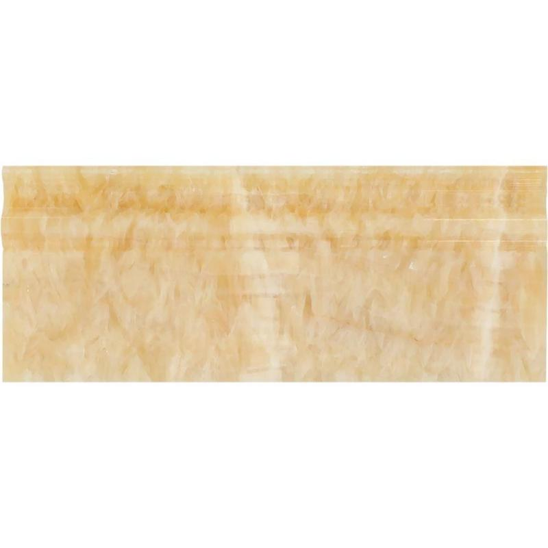 Honey Onyx 4 3/4x12 Polished Baseboard Molding - TILE & MOSAIC DEPOT