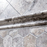 Silver Travertine 2x2 Hexagon Honed Mosaic Tile - TILE AND MOSAIC DEPOT