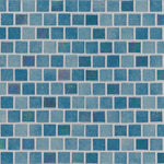 Hawaiian Coast 1X1 Staggered Glass Mosaic Tile - TILE AND MOSAIC DEPOT