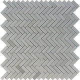 Spanish Grey Marble 1x3 Herringbone Polished Mosaic Tile