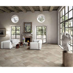 Molo Audace Porto Italian Travertine Look Versailles Pattern Porcelain Tile