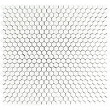 Thassos White Marble 1x1 Hexagon Honed Mosaic Tile - TILE AND MOSAIC DEPOT