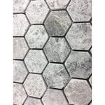 Tundra Gray Marble 2x2 Hexagon Polished Mosaic Tile - TILE AND MOSAIC DEPOT