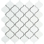 Thassos White Marble Lantern (Arabesque) Polished Mosaic Tile - TILE AND MOSAIC DEPOT