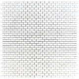 Thassos White Marble 5/8 x 1 1/4 Polished Mini Brick Mosaic Tile - TILE AND MOSAIC DEPOT