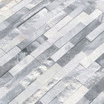 Alaska Gray Multi Finish 6x24 3D Stacked Stone Ledger Panel - TILE & MOSAIC DEPOT