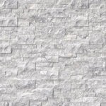 White Carrara Marble 6x24 Stacked Stone Ledger Panel - TILE AND MOSAIC DEPOT