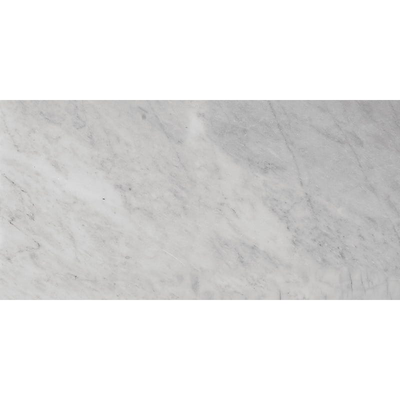 Bianco Amalfi Marble 6x12 Honed Tile - TILE AND MOSAIC DEPOT