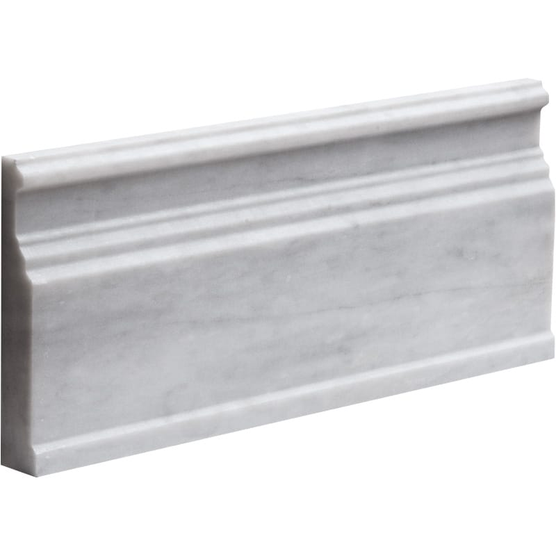 Bianco Caldo Marble 5 1/16x12 Polished Baseboard Molding - TILE AND MOSAIC DEPOT
