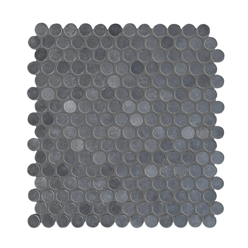 Basalt Gray Penny Round Honed Mosaic Tile - TILE AND MOSAIC DEPOT