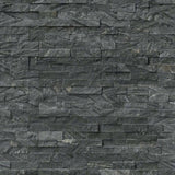 Glacial Black 6x24 Stacked Stone Ledger Panel - TILE AND MOSAIC DEPOT