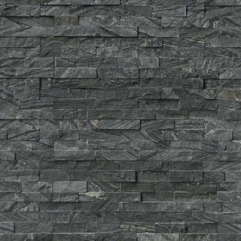 Glacial Black 6x24 Stacked Stone Ledger Panel - TILE & MOSAIC DEPOT