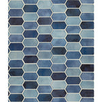 Boathouse Blue Picket Glass Mosaic Tile - TILE AND MOSAIC DEPOT