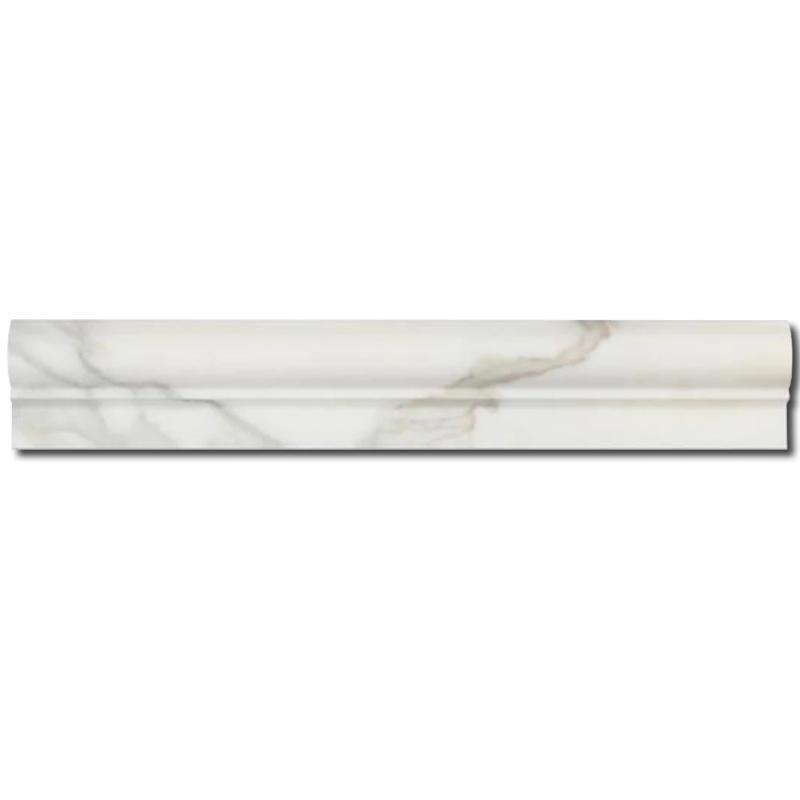 Calacatta Gold Marble 2x12 1 Step Chairrail Polished Liner - TILE AND MOSAIC DEPOT