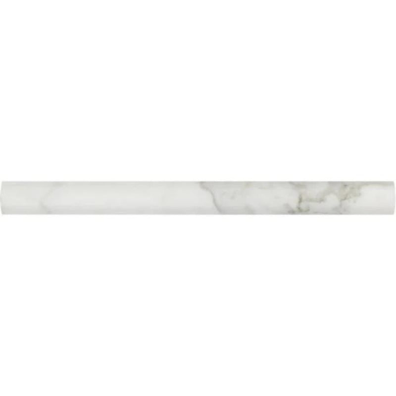 Calacatta Gold Marble 3/4x12 Polished Bullnose Liner - TILE AND MOSAIC DEPOT