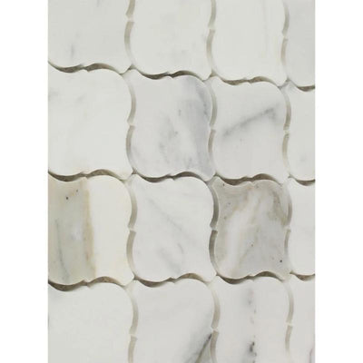 Calacatta Gold Marble Lantern Polished Mosaic Tile - TILE AND MOSAIC DEPOT