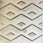 Calacatta Gold Thassos Marble Brass Polished Mosaic Tile - TILE AND MOSAIC DEPOT
