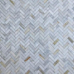 Calacatta Gold Marble 1x3 Herringbone Polished Mosaic Tile - TILE AND MOSAIC DEPOT