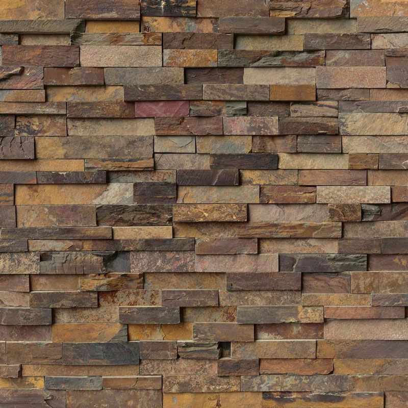 California Gold 6x24 Stacked Stone Ledger Panel - TILE AND MOSAIC DEPOT