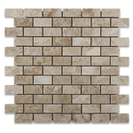 Cappuccino Marble 1X2 Polished Mosaic Tile - TILE AND MOSAIC DEPOT