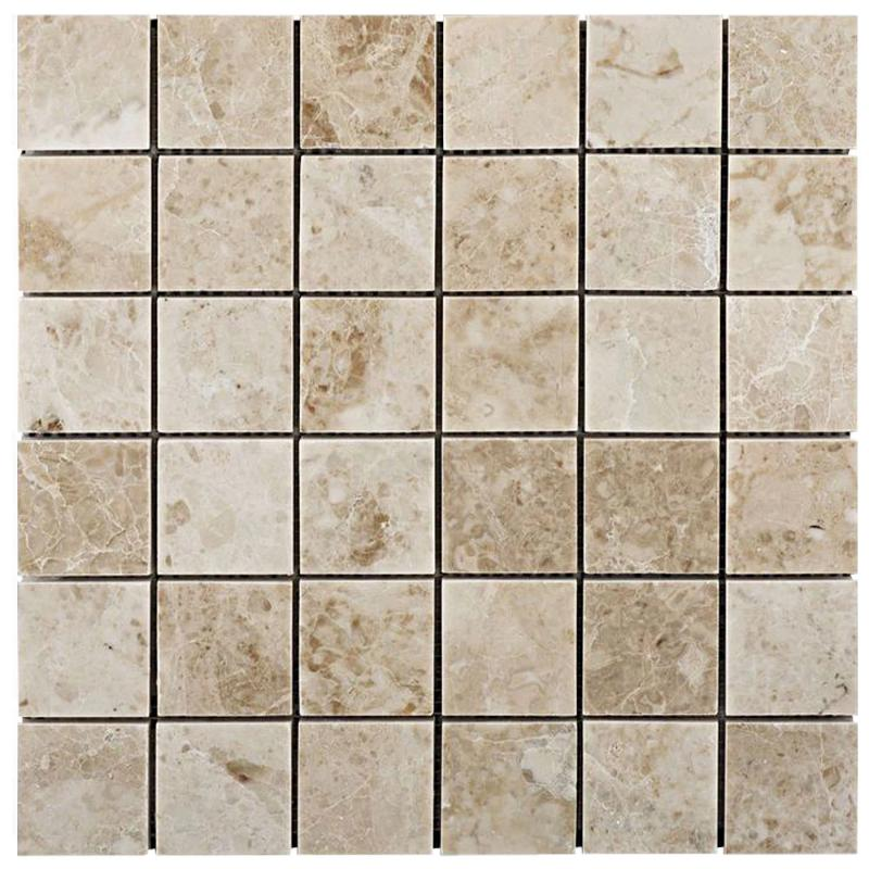 Cappuccino Marble 2x2 Polished Mosaic Tile - TILE AND MOSAIC DEPOT