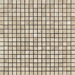 Cappuccino Marble 5/8x5/8 Polished Mosaic Tile - TILE AND MOSAIC DEPOT
