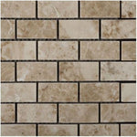 Cappuccino Marble 2x4 Polished Mosaic Tile - TILE AND MOSAIC DEPOT