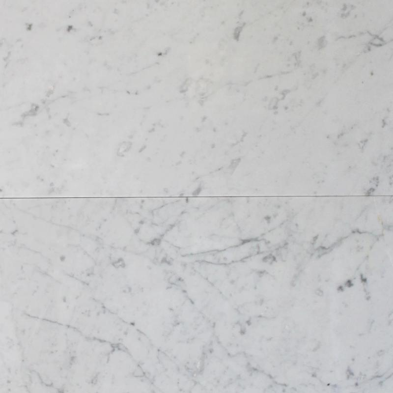 White Carrara Marble 12x24 Honed Tile - TILE AND MOSAIC DEPOT