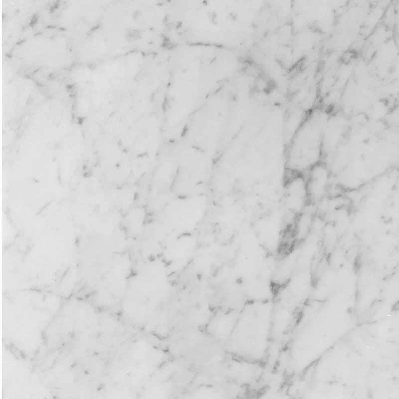 White Carrara Marble 12x12 Honed Tile - TILE AND MOSAIC DEPOT